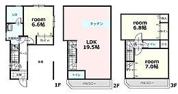 A区画 参考プラン 参考建物価格1、984万円 土地建物総額7、034万円(税込)(設備負担金込)