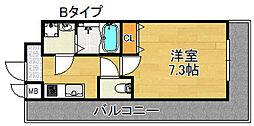 TOYOTOMI STAY PREMIUM 天王寺公園III 7階1Kの間取り
