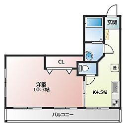 野本ビル(ノモトビル)[3階]の間取り