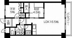 第16柴田マンション[504号室]の間取り