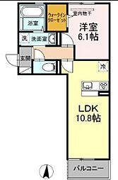 岡山電気軌道清輝橋線 清輝橋駅 徒歩30分の賃貸アパート 3階1LDKの間取り