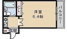 メロディーハイム美章園[8階]の間取り