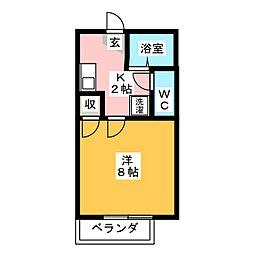 ハイツユニゾン[2階]の間取り