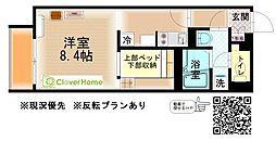 JR相模線 門沢橋駅 徒歩6分の賃貸アパート 1階ワンルームの間取り