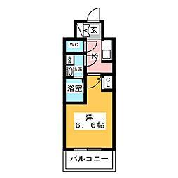 S−RESIDENCE名駅 4階1Kの間取り