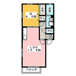 フローラ東山[1階]の間取り