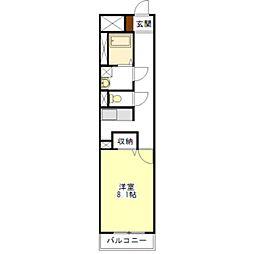 ラフィネ上浜[1階]の間取り