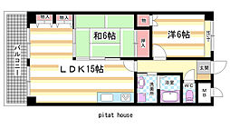 奈良県奈良市帝塚山5丁目の賃貸マンションの間取り