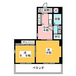 助六ビル[5階]の間取り