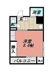 タツノ山王ビル[202号室]の間取り