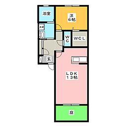 セブン花房[1階]の間取り