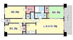サニープレイス西芦屋2号館[9階]の間取り