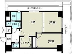 ノルデンハイム新大阪II[14階]の間取り