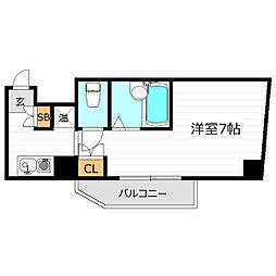 ドミール堺筋本町[6階]の間取り