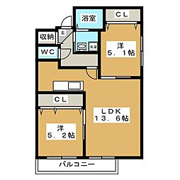 Azure Court S8[4階]の間取り