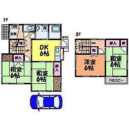 [一戸建] 愛媛県松山市余戸東3丁目 の賃貸【/】の間取り