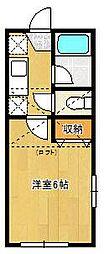 千葉県習志野市鷺沼台1丁目の賃貸アパートの間取り