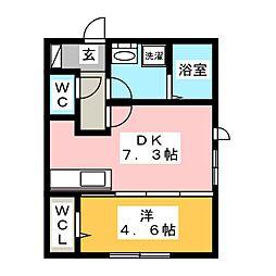 D maison 西崎[1階]の間取り