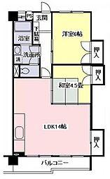 給田南住宅1号棟[209号室]の間取り