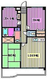 グランパレス弐番館[2階]の間取り
