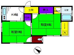 第一白百合荘[2階]の間取り