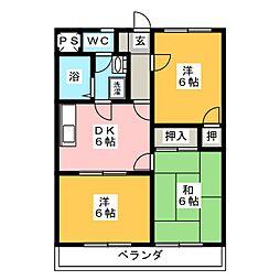 クランプガーデンノース[2階]の間取り