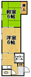 浪華マンション[3階]の間取り