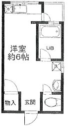 東京都目黒区目黒本町5丁目の賃貸アパートの間取り