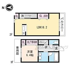 阪急京都本線 茨木市駅 徒歩5分の賃貸アパート 1階1LDKの間取り