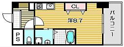 フェリーズ茨木[9階]の間取り