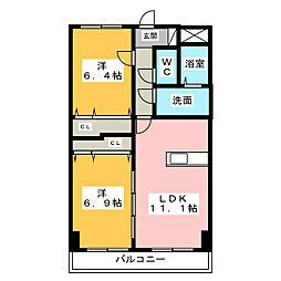 M's BLD.[3階]の間取り