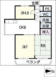 ハイム岩崎[2階]の間取り