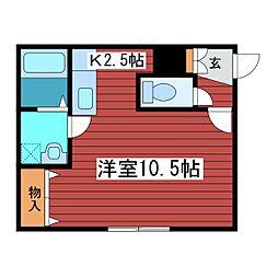 ウエスト ヒルズ3.8[1階]の間取り