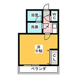 ルフュージュさくら若松町[2階]の間取り