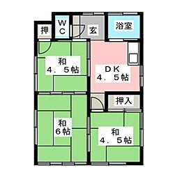 [一戸建] 愛知県江南市前飛保町栄 の賃貸【/】の間取り