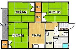 宮の下コーポ[1階]の間取り