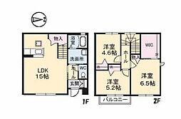 [テラスハウス] 愛媛県松山市空港通5丁目 の賃貸【/】の間取り