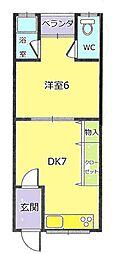 中農マンション[105号室]の間取り