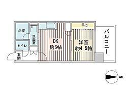 S-RESIDENCE円山表参道 7階1LDKの間取り