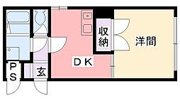 avancio香枦園[104号室]の間取り