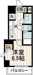 東京メトロ東西線 木場駅 徒歩15分の賃貸マンション 4階1Kの間取り