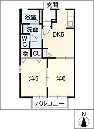 アトリオ B棟[1階]の間取り