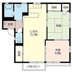 メゾンファミ−ユA[2階]の間取り