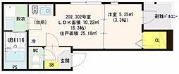 仮)高殿3丁目SKHコーポ[3階]の間取り