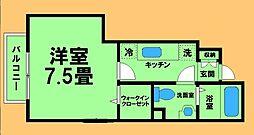 JR横浜線 八王子みなみ野駅 徒歩10分の賃貸アパート 1階1Kの間取り