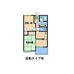 富士ハイツ[A105号室]の間取り