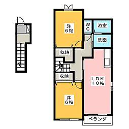 サンリットII[2階]の間取り