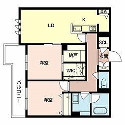 (仮称)八尾市シャーメゾン恩智北町3丁目計画 3階2LDKの間取り