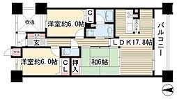 ライオンズマンション本郷[402号室]の間取り