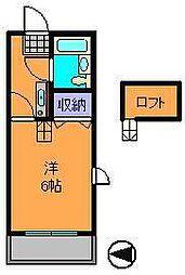 奈良県生駒市東生駒1丁目の賃貸マンションの間取り